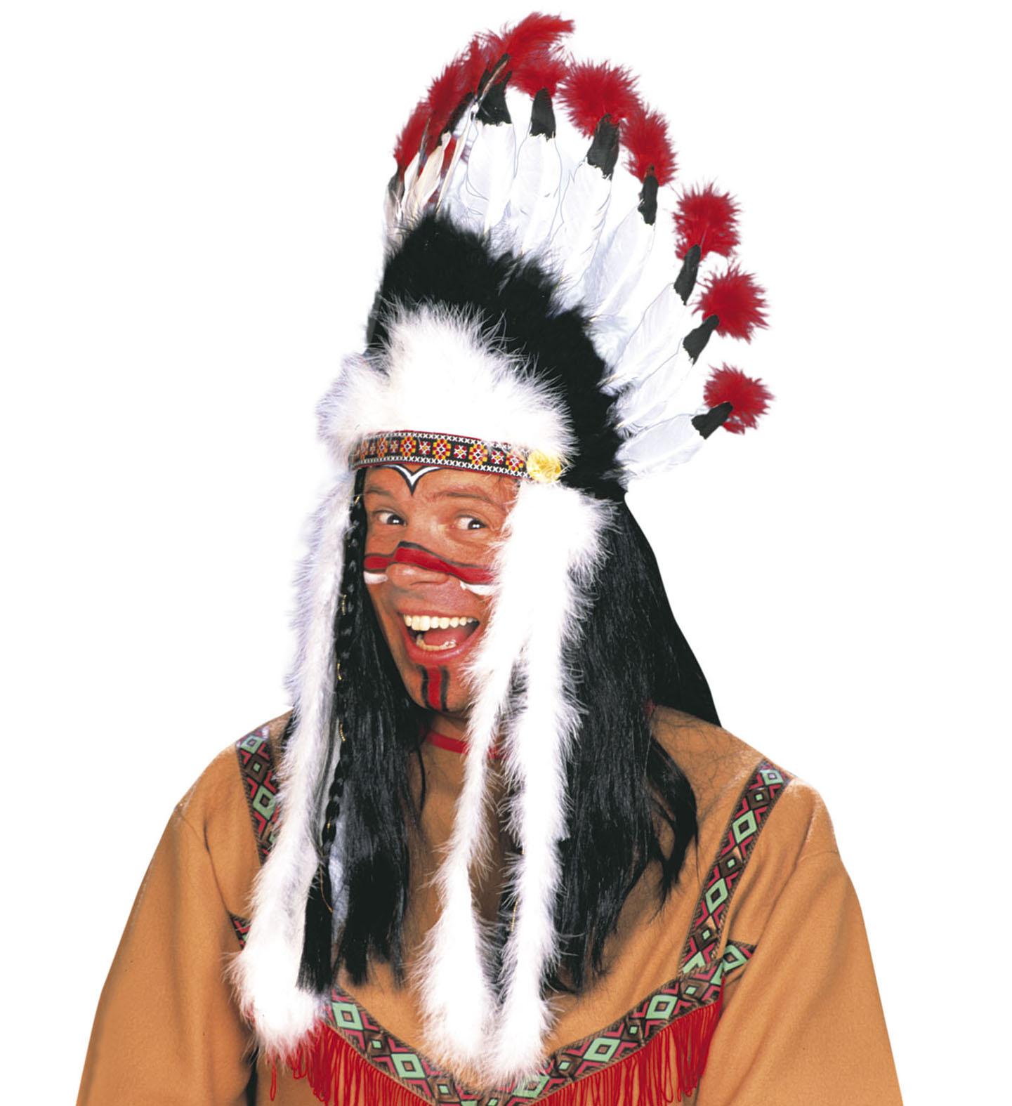 Indiánská péřová čelenka fe8fda6036