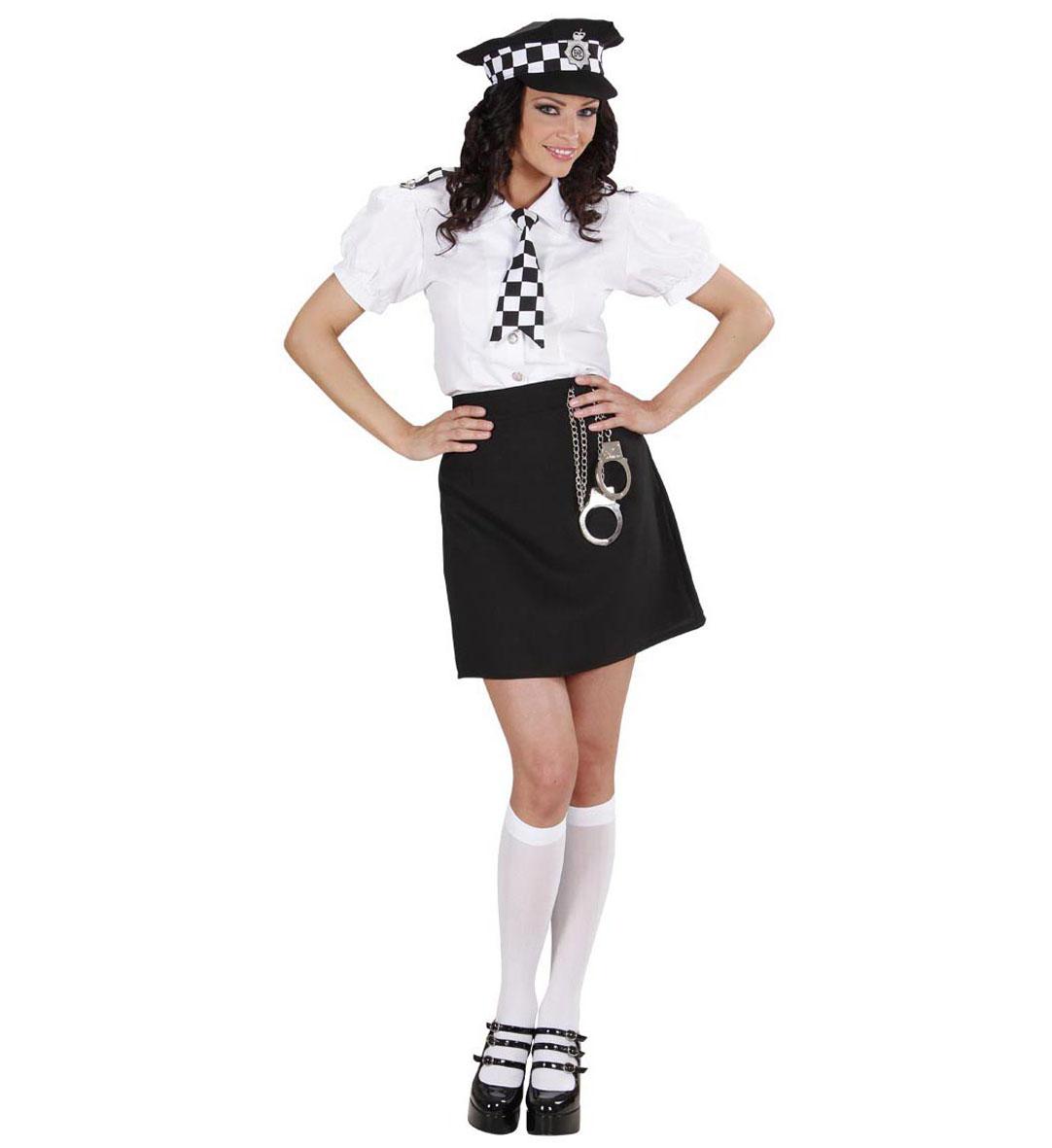 bb1d5c2c4318 Černobílý dámský kostým policistky