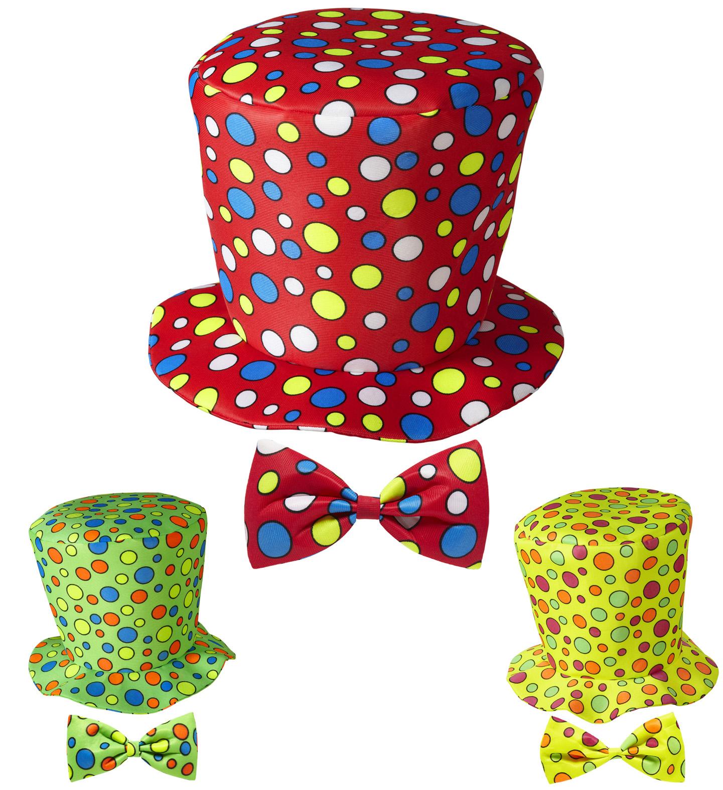 4860219d8a4 Puntíkatý klaunský klobouk a motýlek