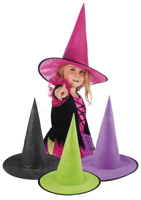 Čarodějnický barevný dětský klobouk  09a195bb73