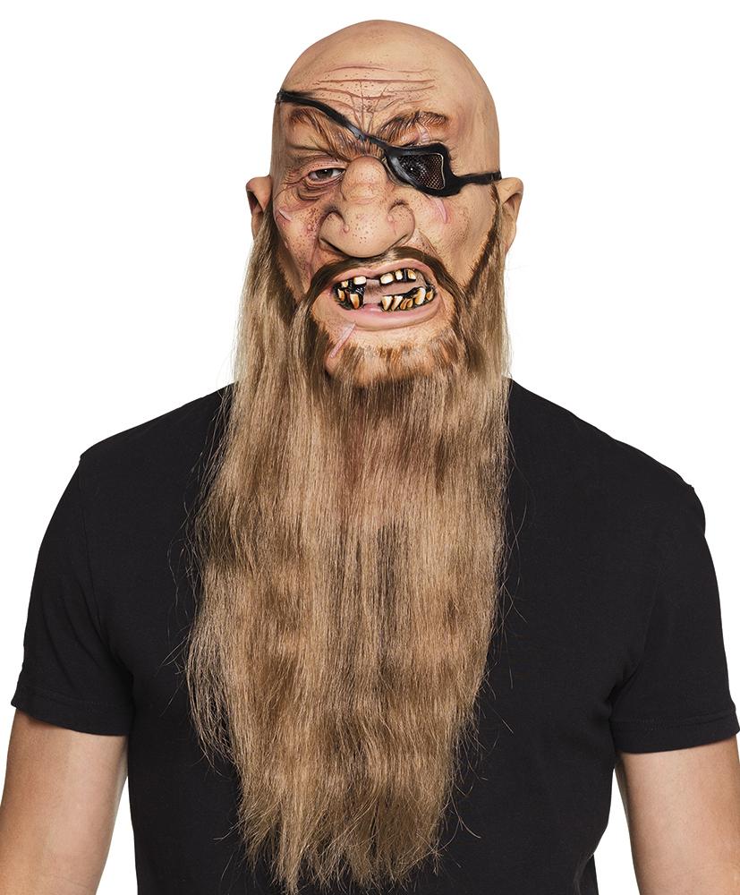 1b7651b53 Latexová karnevalová maska piráta s vlasy | R-KONTAKT KARNEVAL ...